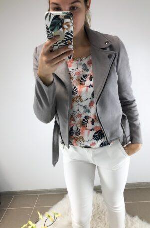 Hall seemisnahkne jakk