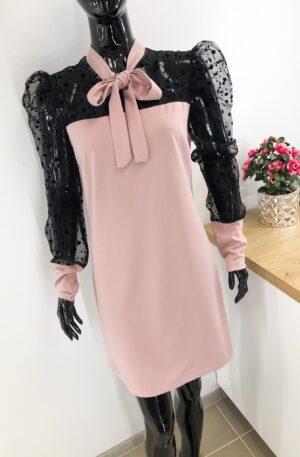 Roosa kleit lipsuga