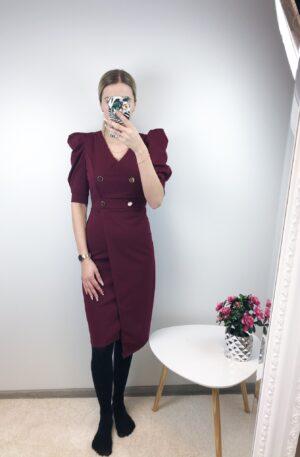 Veinipunane nööpidega kleit