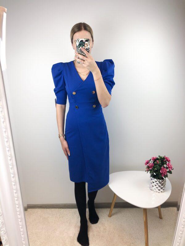 Sinine nööpidega kleit
