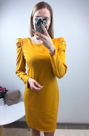 Kollane kleit, puhvis õlaosaga