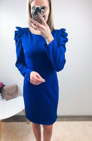 Sinine kleit, puhvis õlaosaga