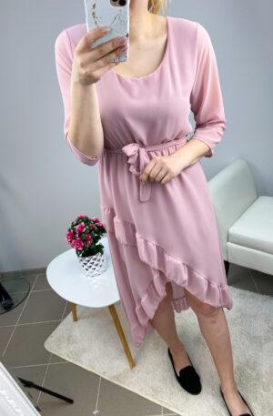 Roosa high-low stiilis kleit