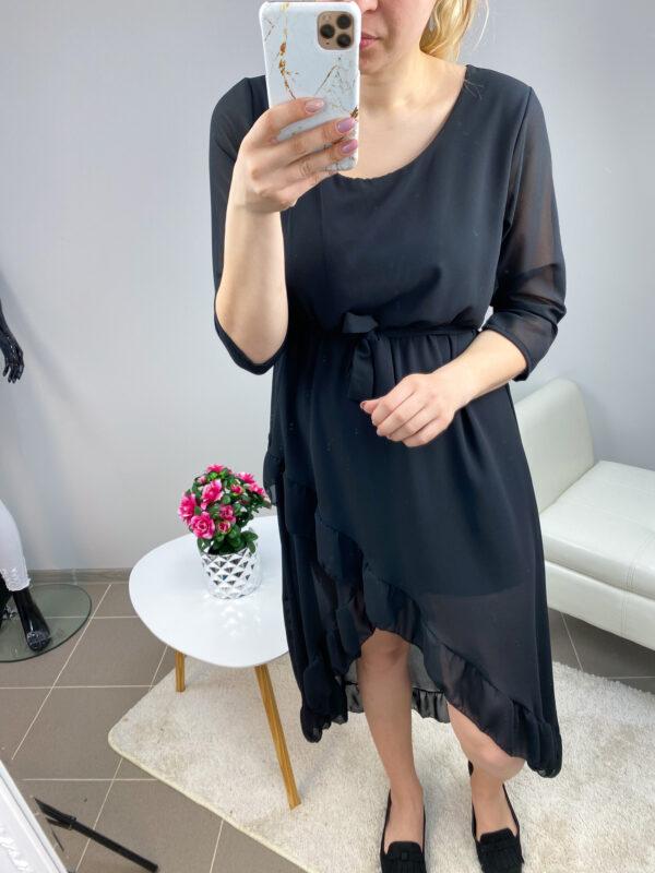 Must high-low stiilis kleit