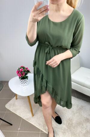 Khaki high-low stiilis kleit