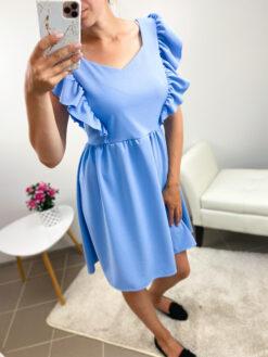 Sinine satsidega kleit