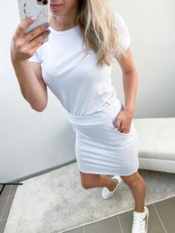 Valge seeliku+pluusi komplekt