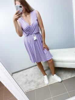 Lilla triibuline kleit