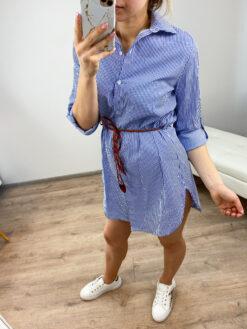 Sinise triibuline kleit