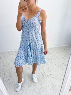 Helesinine lilleline kleit